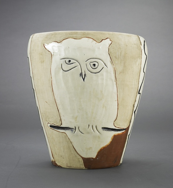 Pablo Picasso, 'Visage et hibou (A.R. 407)', 1958, Other, Terre de faïence vase, painted in colors and partially glazed, Sotheby's