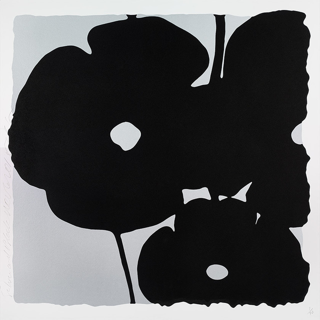 Donald Sultan, 'Reversal Poppies, Silver and Black', 2015, Julie Nester Gallery