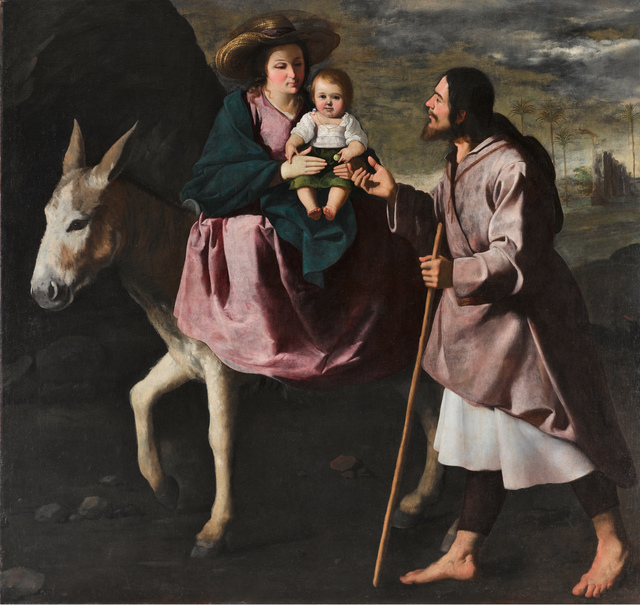 , 'Huida a Egipto (The Flight into Egypt),' ca. 1640, Museo Thyssen-Bornemisza