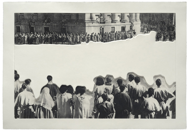 , 'Crowds with Shape of Reason Missing: Example 4,' 2012, Mixografia