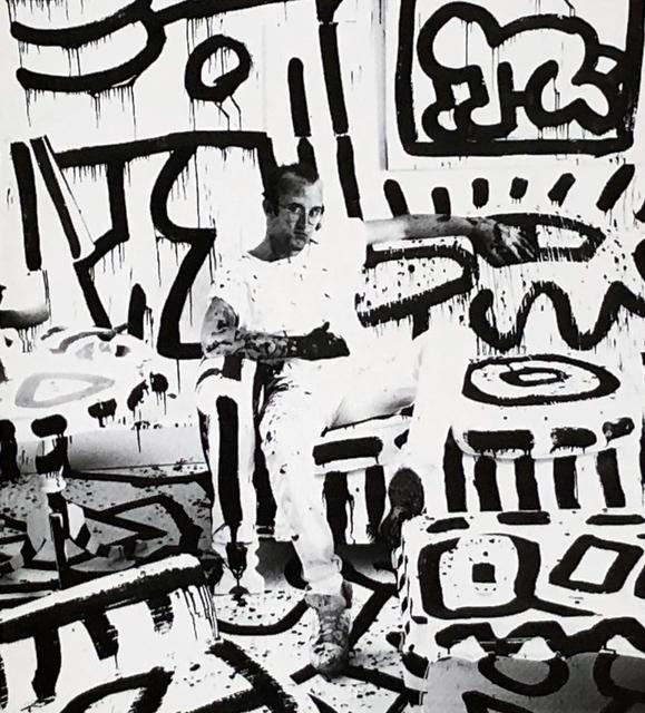 Keith Haring, 'Keith haring at Area nightclub New York 1986', 1986, Lot 180