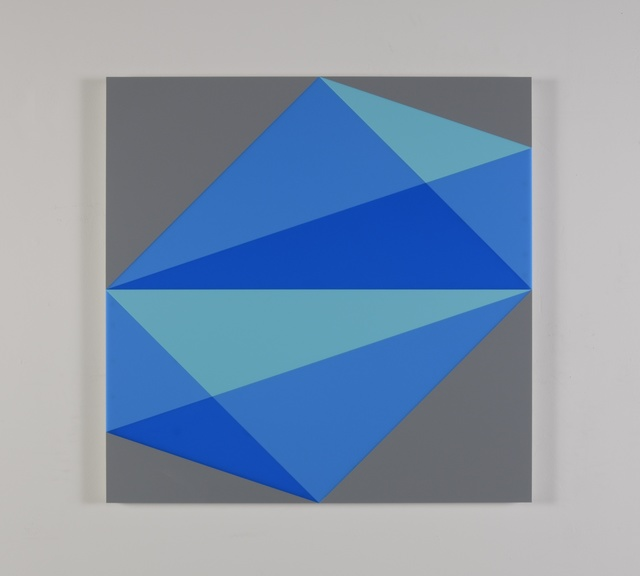 , 'Composition in 2308 Turquoise, 2648 Blue, 2051 Blue and 3001 Gray,' 2015, Miller Yezerski Gallery