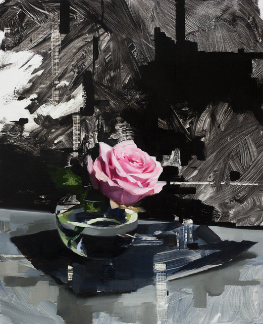 , 'Pink Rose and Black,' 2018, Abend Gallery