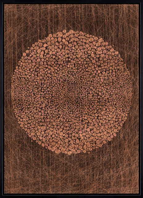 , 'Copper Stone Circle,' 2014, Jonathan LeVine Projects