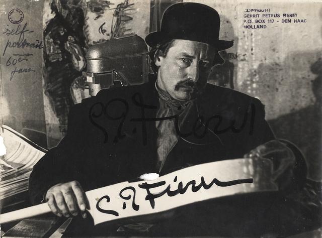 ", 'Untitled (self-portrait with signature on ""banner"" over torso),' , Galerie Julian Sander"
