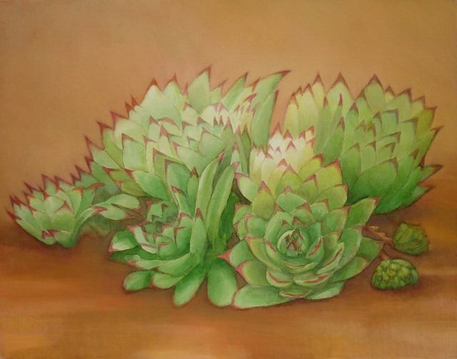 , 'Hens and Chicks,' 2010, InLiquid