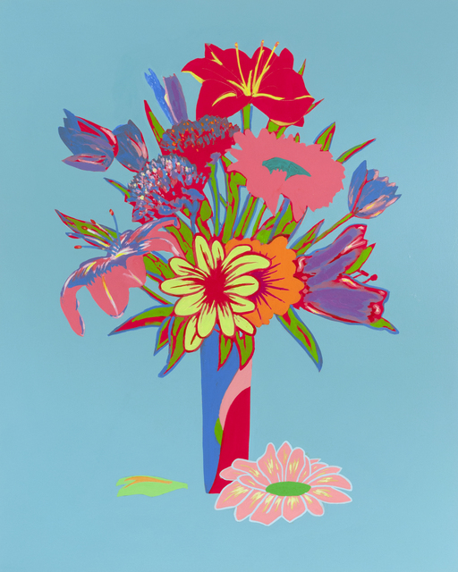 , 'Unrepentant Flowers: Sea Blue,' 2017, Diane Rosenstein