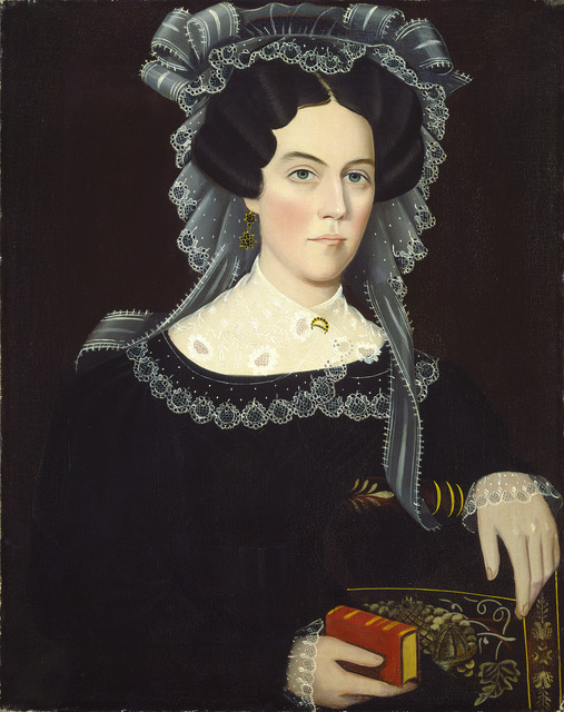 Ammi Phillips, 'Catherine A. May', ca. 1830, National Gallery of Art, Washington, D.C.