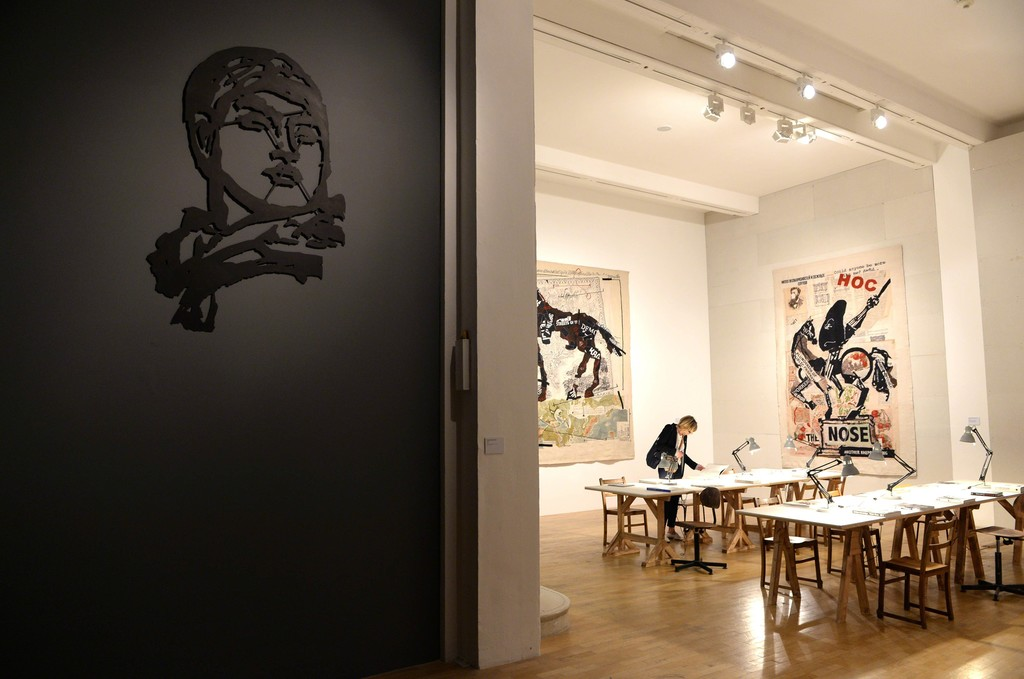 "Installation view of ""William Kentridge: Thick Time"" at Whitechapel Gallery, London (2016). Image courtesy of Whitechapel Gallery."