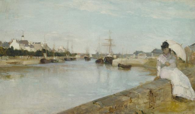 Berthe Morisot, 'The Harbor at Lorient', 1869, National Gallery of Art, Washington, D.C.