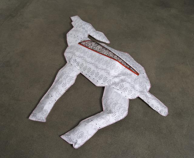 , 'Body Bag for Deer (Polyisobutylene / PIB),' 2013, bitforms gallery
