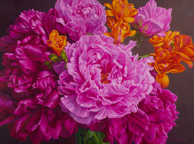 Fiona Craig, 'Peonies & Freesias', Wentworth Galleries