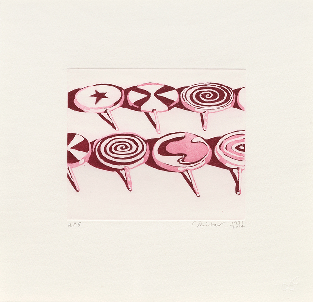 Wayne Thiebaud, 'Little Red Suckers', 1971-2014, Paul Thiebaud Gallery