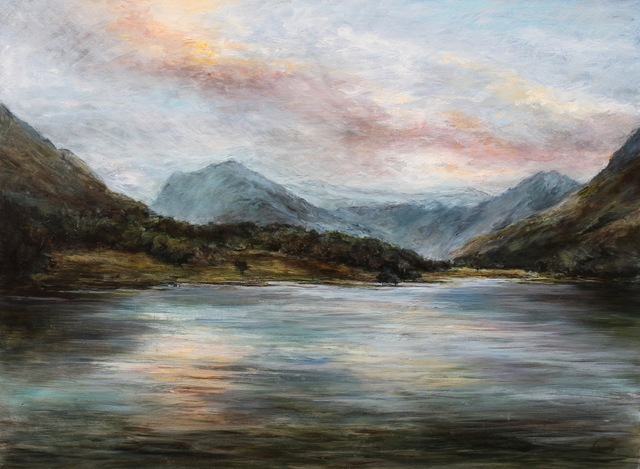 , 'Lake Buttermere in the Evening Cumbria ,' 2017, The Biscuit Factory