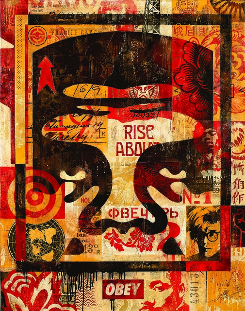Shepard Fairey (OBEY), 'Icon Collage (Top)', 2016, Underdogs Gallery