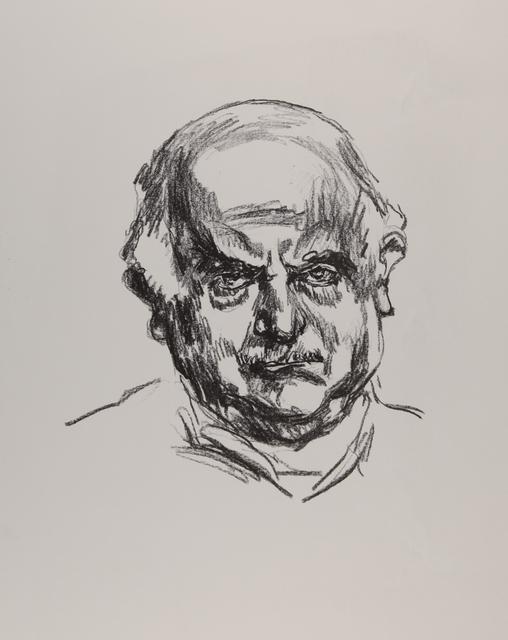 Ludwig Meidner, 'Selbstbildnis (Variante II: Blick frontal nach links)', 1965, Henze & Ketterer