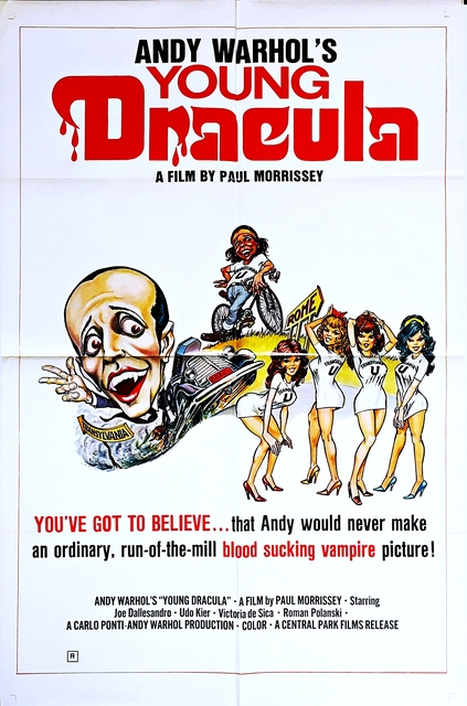 Andy Warhol, 'Young Dracula Movie Poster (1974)', 1976, Alpha 137 Gallery