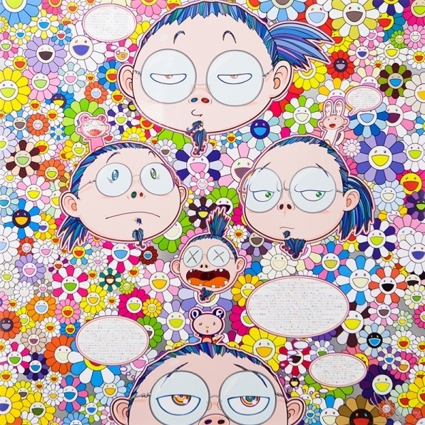 Takashi Murakami, 'Self-Portrait of the Manifold Worries of a Manifoldly Distressed Artist', 2016, Print, Offset lithograph, Vogtle Contemporary