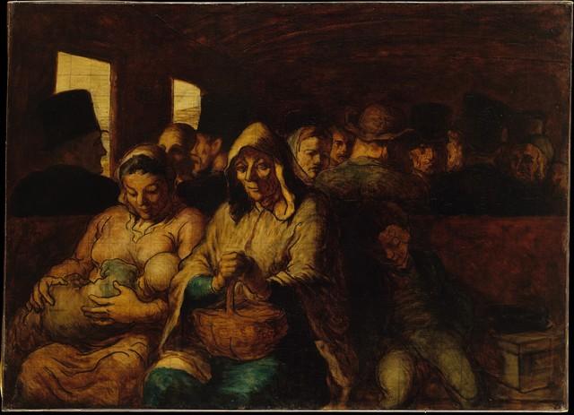 Honoré Daumier, 'The Third-Class Carriage', ca. 1862–64, The Metropolitan Museum of Art