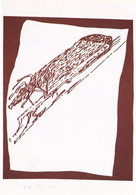 , 'Hirsch auf Urschlitten (Stag on Primeval Sled),' 1985, Galerie Thomas