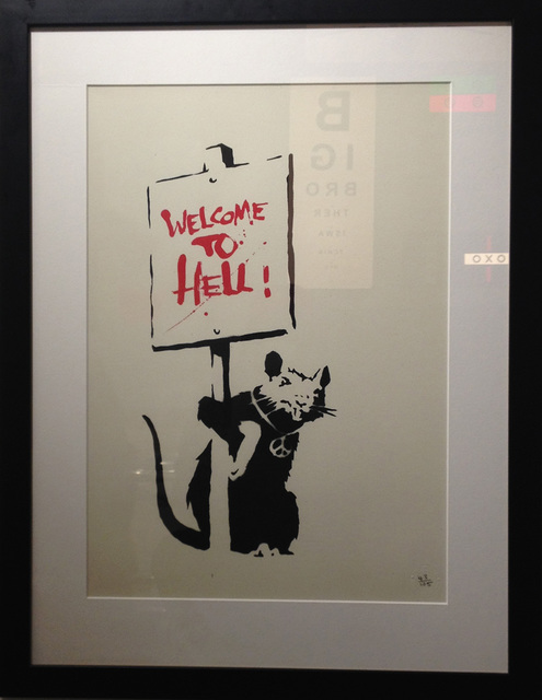 Banksy, 'Welcome to Hell', 2004, Rhodes