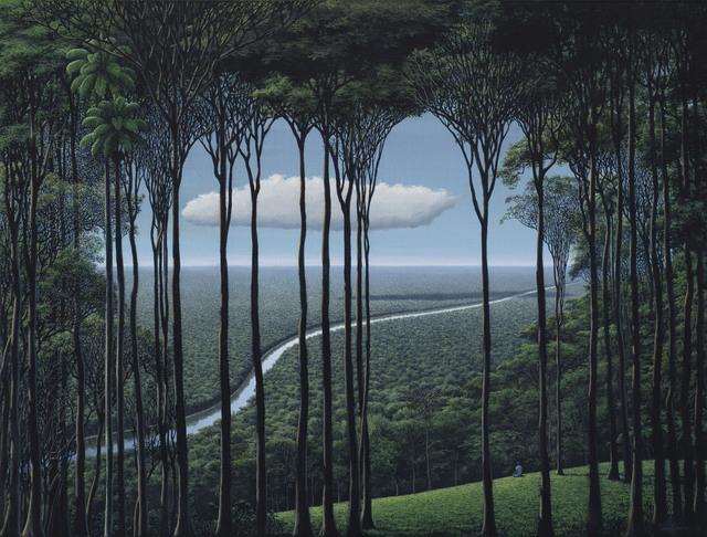 Tomás Sánchez, 'Meditador, nube, río', 2018, Christie's