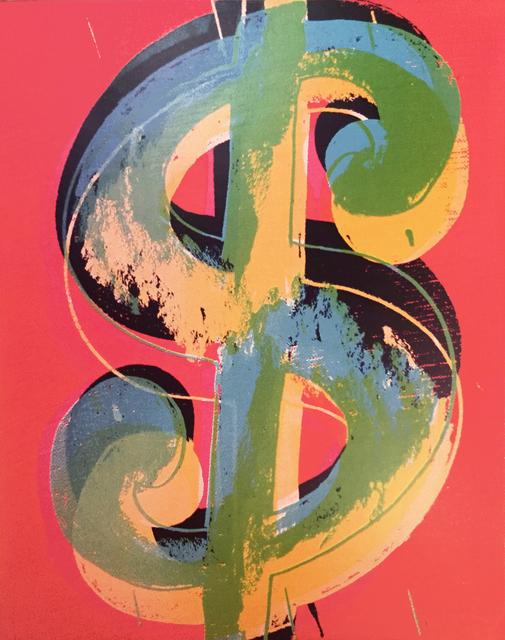 Andy Warhol, 'Dollar sign', 1982, Mixed Media, Mixed media on canvas, Mirat