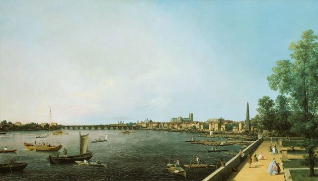 , 'London: The Thames from Somerset House Terrace towards Westminster ,' ca. 1750-1751, Royal Collection Trust