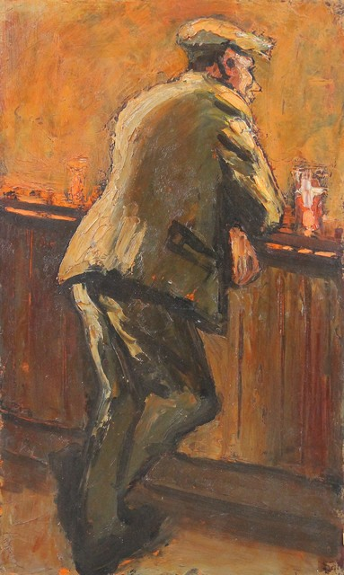 , 'Man alone at bar,' , Castlegate House Gallery