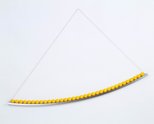, 'Yellow Curve,' 2012, Flowers