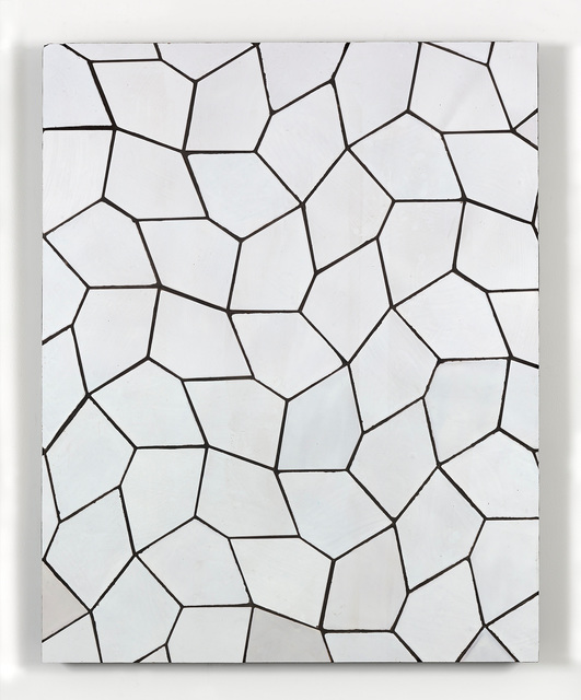 , 'Tile Painting (Terracotta Pentagon Leaves, White),' 2016, Simon Lee Gallery