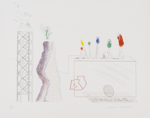 David Hockney, 'A Tune (S.A.C 180)', 1976-77, Forum Auctions