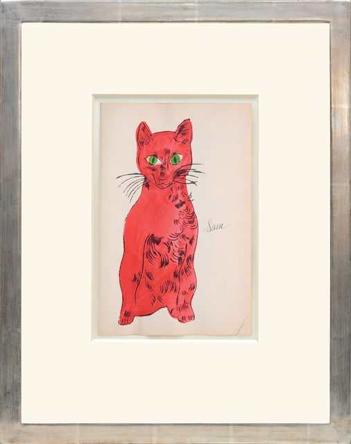 , 'Sam [Sitting red cat with green eyes],' 1954, Peter Harrington Gallery