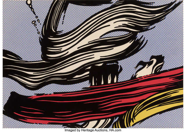 Roy Lichtenstein, 'Brushstrokes', 1967, Print, Screenprint in colors on paper, Heritage Auctions