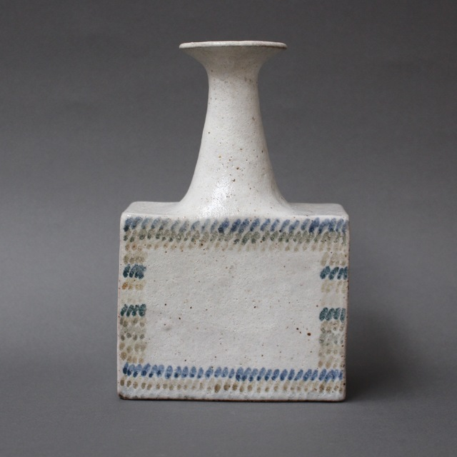 , 'Ceramic Vase with Geometric Line Design,' 1970-1979, Bureau of Interior Affairs