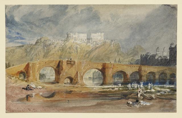 , 'The Moselle Bridge at Coblenz,' 1817, Clark Art Institute