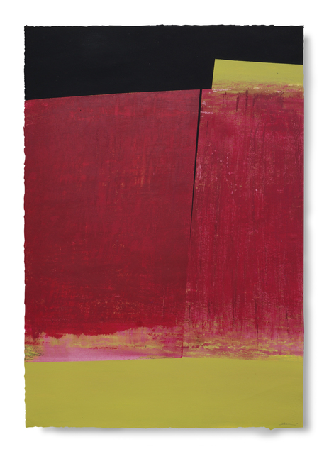 Silvia Lerin, 'Surface in Magentas with Fissure', 2010, Painting, Mixed Media on Paper, Joanna Bryant & Julian Page