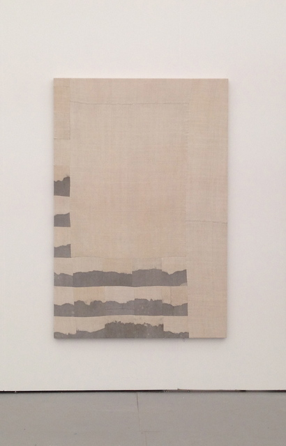 , 'Indian ink and sea salt on linen,' 2013, Vigo Gallery