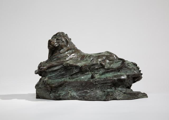 Charlie Langton, 'Lazy Lion', 2020, Sculpture, Bronze, Sladmore