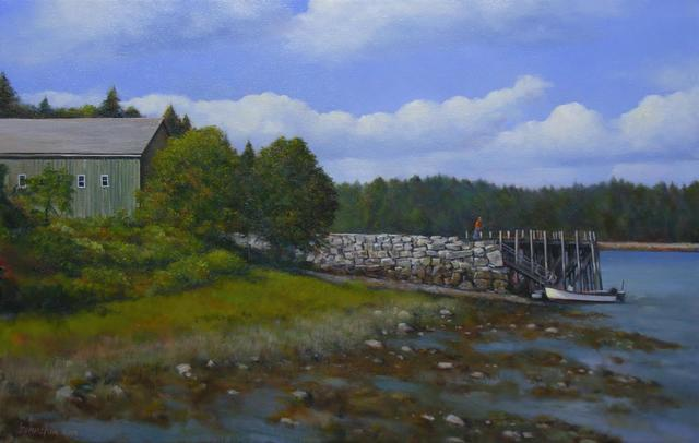 Laurence Johnston, 'Boatyard Afternoon', 2019, The Galleries at Salmagundi