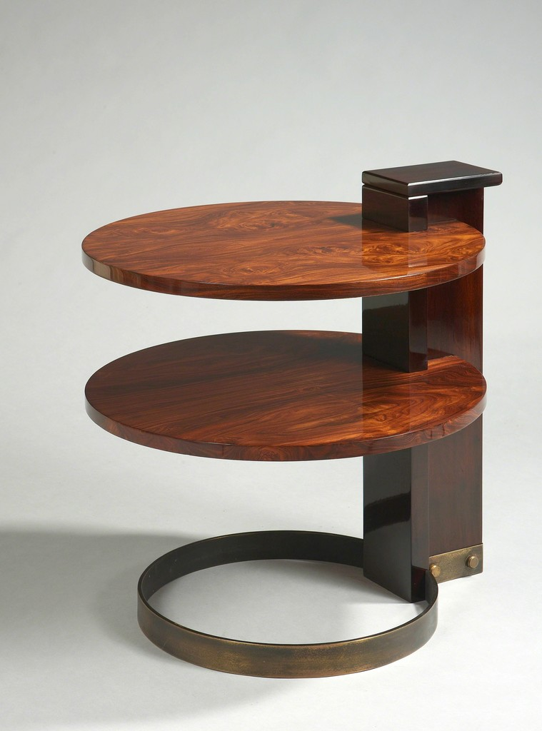 Side Table with a double circular top