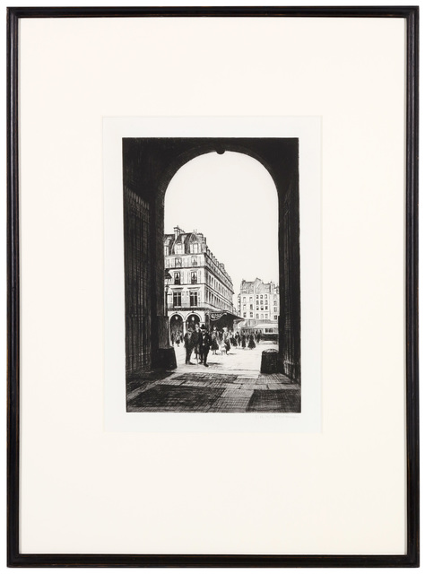 Christopher Richard Wynne Nevinson, 'Le Louvre', Printed in 1922., Print, Etching and drypoint, Chiswick Auctions