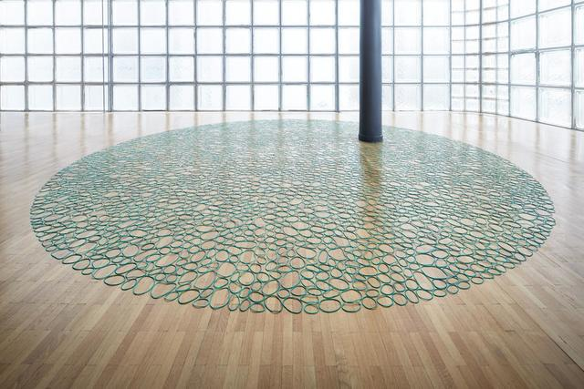, 'Green Rubber Band Circle,' 2015, Nogueras Blanchard