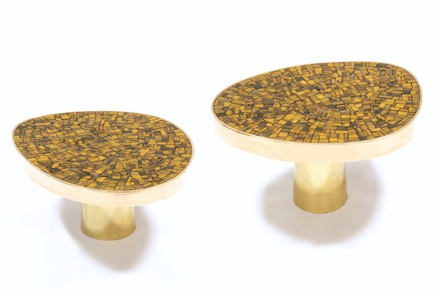 , 'Pair of Tiger-eye coffee table,' 2017, Maison Rapin - 88 Gallery