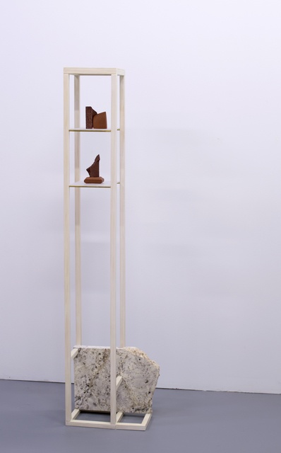 Tyler Beard, 'Just Beyond Tree Line', 2017, Sculpture, Brass, Ceramic, Granite, Plexiglass, Wood, VICTORI+MO CONTEMPORARY