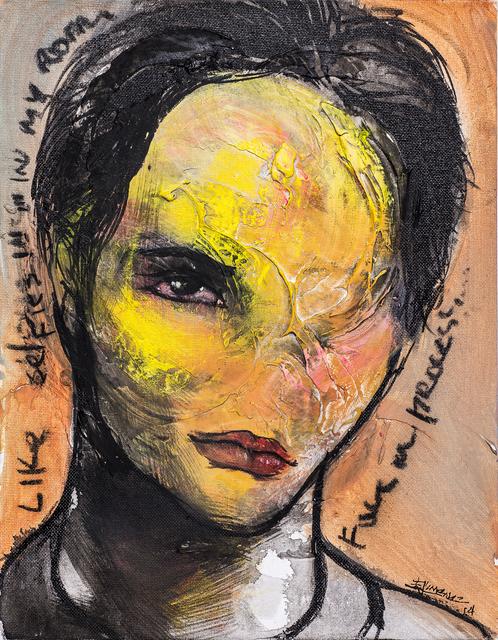 Esteban Jiménez Guerra, 'Selfie', 2014, Painting, Mixed media on canvas, DETOUR Gallery