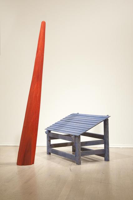 , 'Blue House & Red Moon Beam,' 2015, C. Grimaldis Gallery
