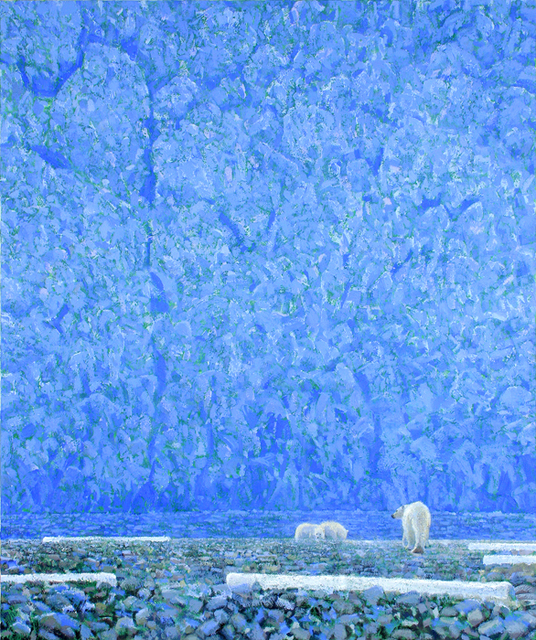 , 'Blue Ice, Bears and Driftwood,' 2007, Mall Galleries