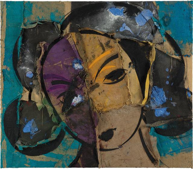 Manolo Valdés, 'Rostro sobre fondo turquesa', 2002, Phillips