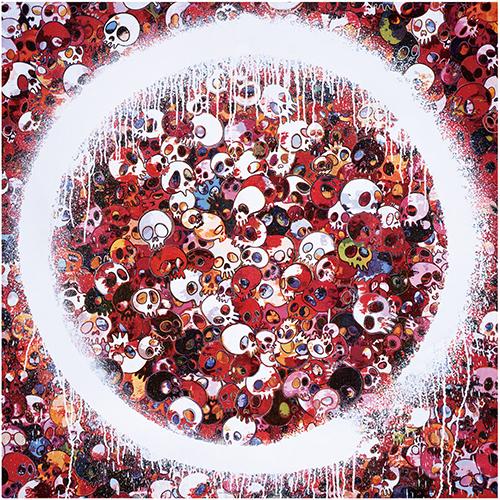 Takashi Murakami, 'Enso: Memento Mori Red', 2016, Dope! Gallery